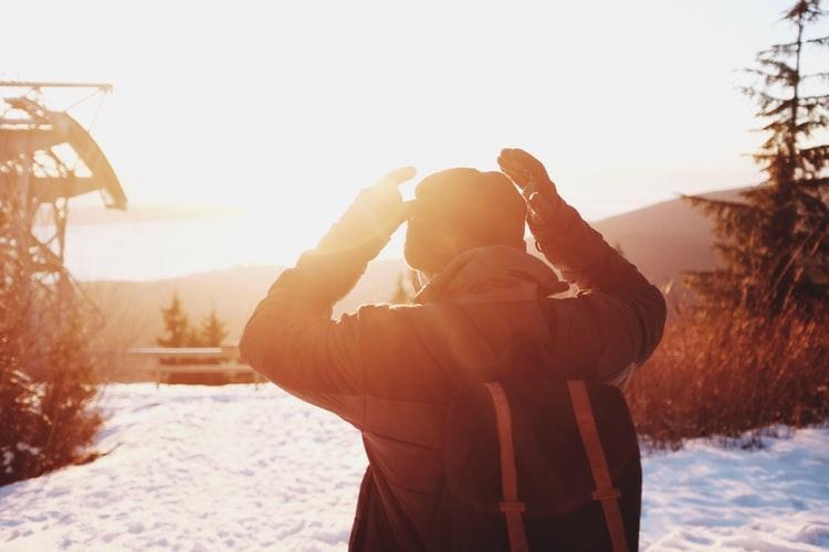 Natur billedet af solnedgang
